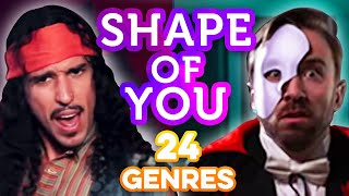 24 Genres. Two Artists. One song. All voices. - Shape of You Ed Sheeran thumbnail