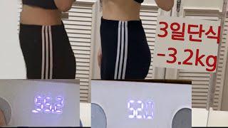 3일 단식 -3.2kg 감량/ 근육과 지방은 얼마나 빠…