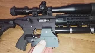 Самодельная РСР винтовка, проверка кучности на 50м.