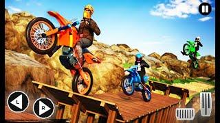 موتوكروس الترابية الدراجة - حيلة سباق الطرق الوعرة لعبة الدراجة - العاب اندرويد screenshot 4