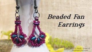 Beaded Fan Earrings-Jewelry Beading With Superduos Tutorial