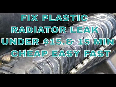 How To Fix Leak On Plastic Radiator Jb Weld 1500 15minutes