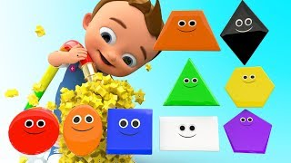 Water Tub Shapes 3D - Learning Shapes & Colors with Little Baby Kids Children Shapes Educational