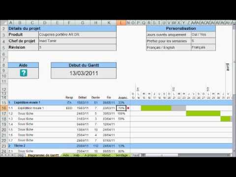 Diagramme De Gantt Sous Excel Youtube