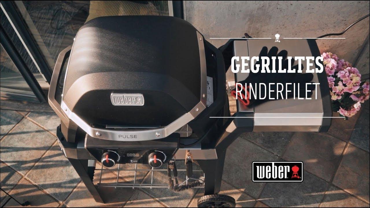 Weber Elektrogrill Pizza : Weber stephen grill pulse gegrilltes rinderfilet youtube
