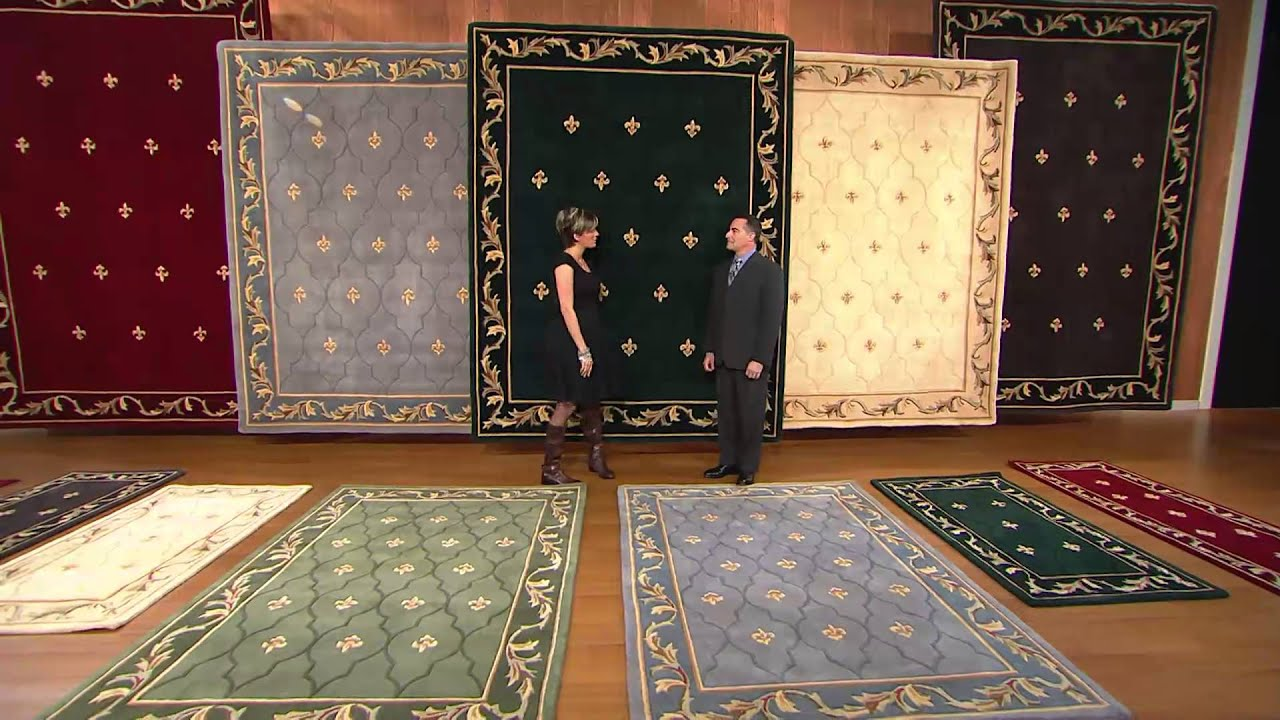 Royal Palace Special Edition Fleur De Lis 3 X 5 Wool Rug With Shawn Killinger