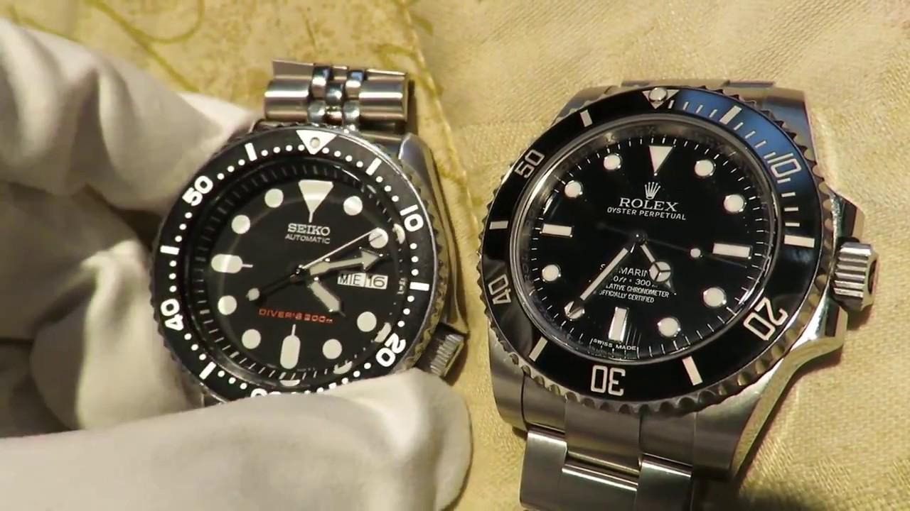 Rolex Submariner VS Seiko SKX007 Mens Divers Watch