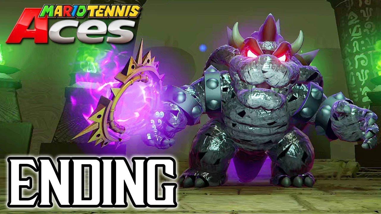 MARIO TENNIS ACES Final Boss + ENDING Walkthrough PART 7 (Adventure Mode) @ 1080p (60ᶠᵖˢ) HD ✔