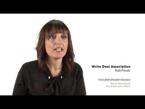 Fond għallGħaqdiet Volontarji  Write Deal Association  Ruth Frendo