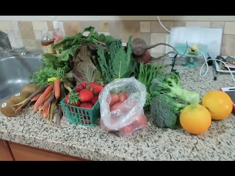 Vlog: Farm box delivery, FM & TJ's groceries and cooking dinner (4/28 - 4/30/16)