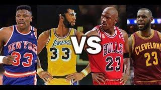 どっちが強い?背番号23番の歴代選手 VS 背番号33番の歴代選手!【NBA2k18】