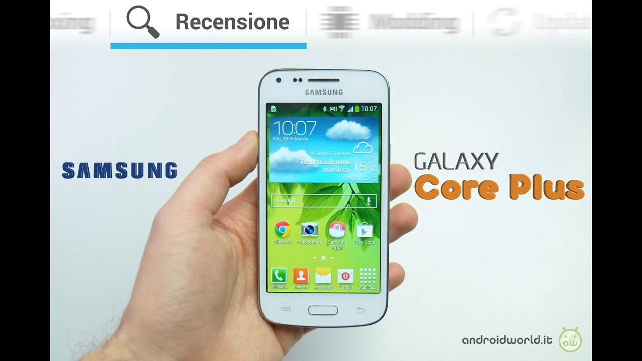 samsung galaxy core plus recensione in italiano youtube. Black Bedroom Furniture Sets. Home Design Ideas