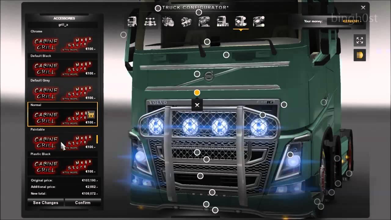 euro truck simulator 2 моды volvo дикси