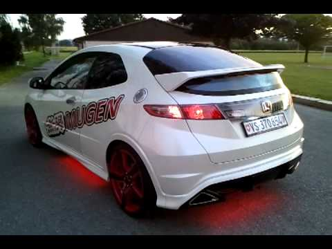 honda civic type r fn2 with ledglow underbody kit youtube. Black Bedroom Furniture Sets. Home Design Ideas