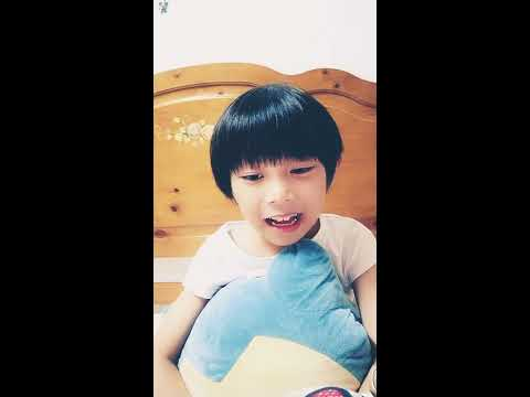 TFboys活力献唱 (九州天空城) 片尾曲(大夢想家)(kimi is seven years boy)kids cover 換牙齒開口咬字NG練習版
