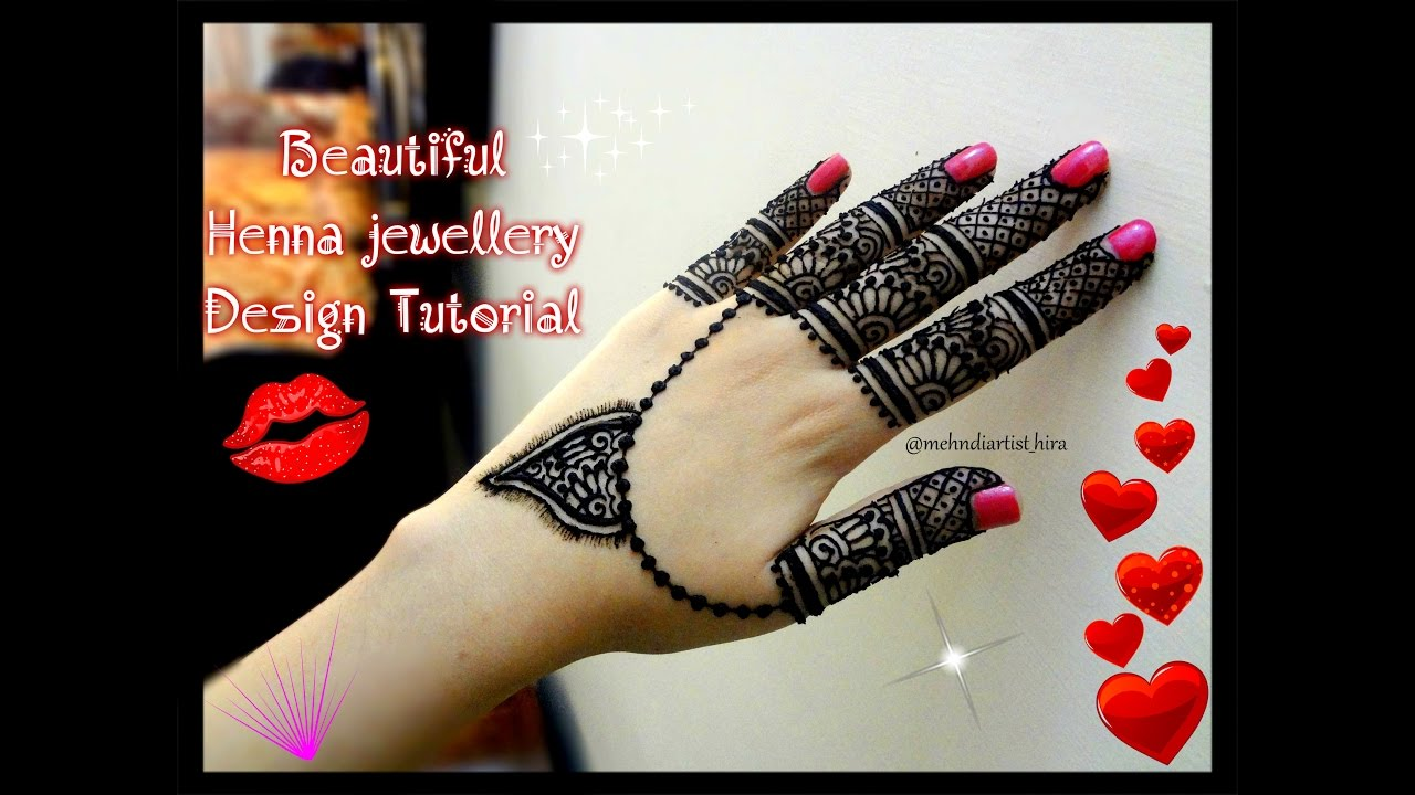 Latest mehndi designs 2016 2017 top 47 mehndi styles - How To Apply Easy Simple Jewellery Style Mehndi Designs For Hands Tutorial For Eid Weddings Youtube