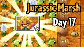 plants vs zombies 2 jurassic marsh day 17 primal sunflower