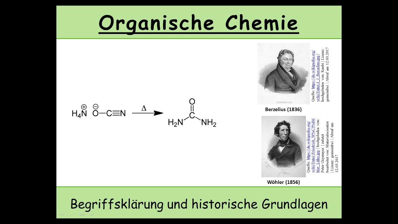 Organische Chemie Definition Und Historische Grundlagen 1