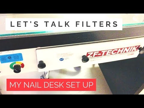 My Nova Flair and Aerovex, nail table filtration systems- my set up and review