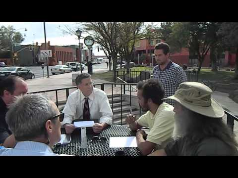 Homeless Activist discuss solutions with Tucson Government and Merchant Group