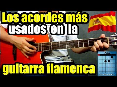 Los acordes más usados para tocar flamenco/rumba (Cadencia andaluza)