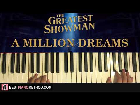 HOW TO PLAY - The Greatest Showman - A Million Dreams (Piano Tutorial Lesson)