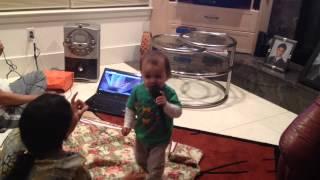 Akhil's first karaoke