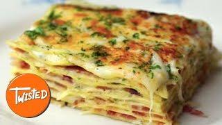 Video Bacon Alfredo Lasagna Recipe   Twisted download MP3, 3GP, MP4, WEBM, AVI, FLV Juli 2018