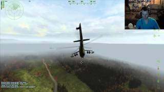 Helicopter gunship combat