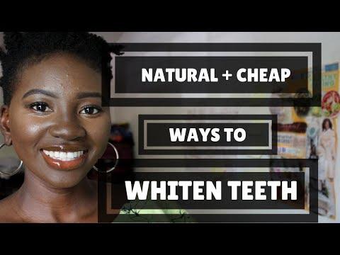 NATURAL + CHEAP WAYS TO WHITEN TEETH
