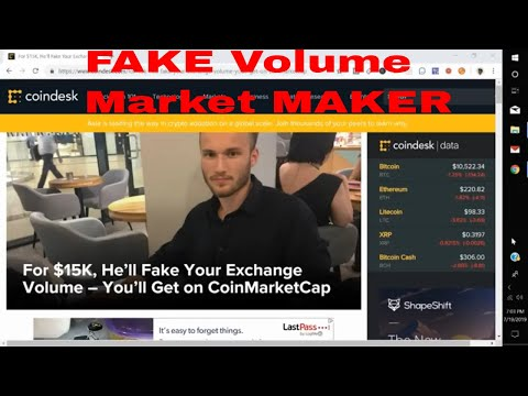 For $15K, He'll Fake Your Exchange Volume – You'll Get on CoinMarketCap Crypto Exchange Fake Volumes