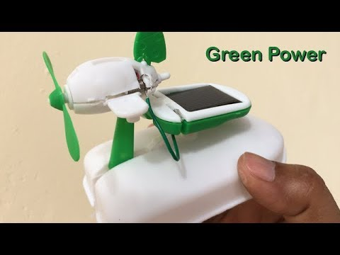 How to Make a Solar Powered Electric Fan - Free Energy - GreenEnergy | Creative Channel