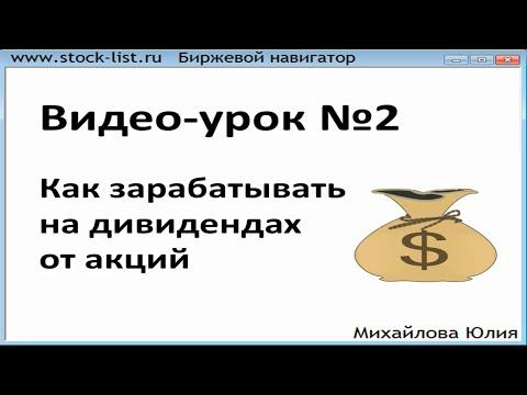 Урок №2. Как зарабатывать на дивидендах от акций