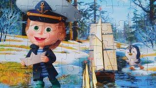 Маша и кораблики - Собираем пазлы для детей Маша и Медведь | Merry Nika