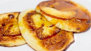 Оладьи с яблоками | Оладьи на кефире | Рецепт оладьев