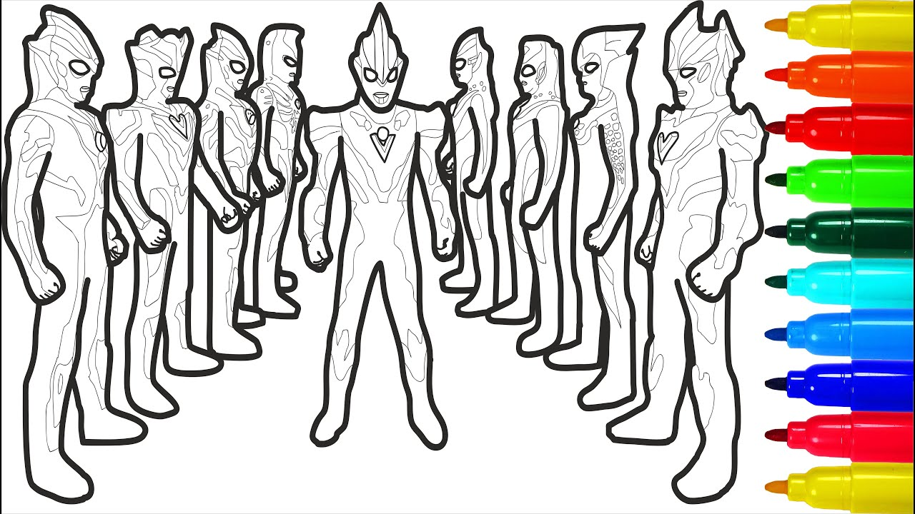 Ultraseven Ultraman Ultraman Tiga Coloring Pages How To