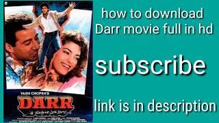 How to download Darr movie srk full hd 💯% original 2018