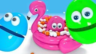 Piłki w basenie dla dzieci Flaming  - Jajko niespodzianka z kolorami | CzyWieszJak