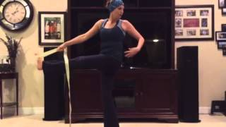 Revolved Hand-to-Big-Toe Pose (strap)