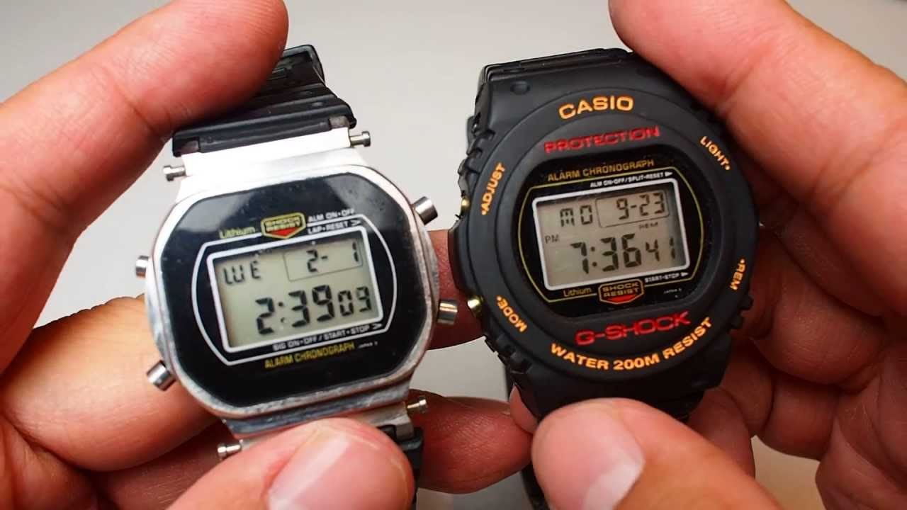 20c6f4856 Casio Classic Vintage G Shock watch from 1980's DW-5400 compare with  DW-5400 and DW-5600E - YouTube