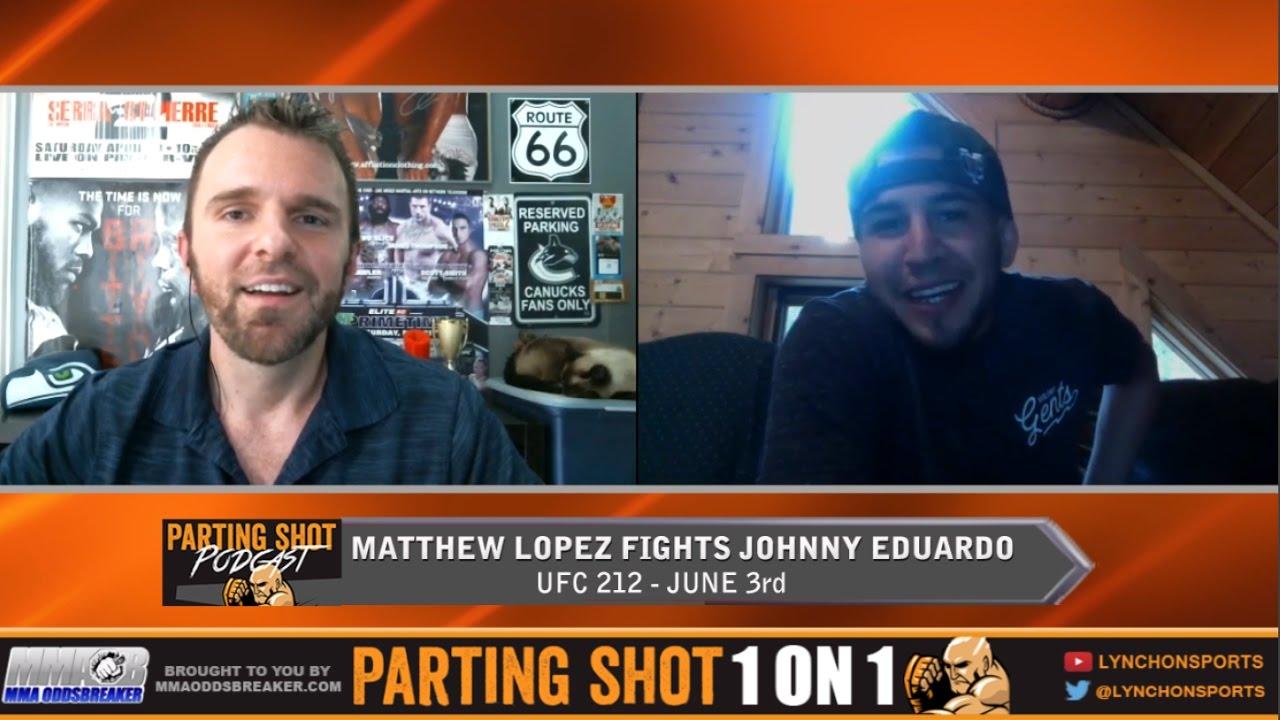 """UFC 212's Matthew Lopez """"I'm going to beat Johnny Eduardo up on the feet"""""""