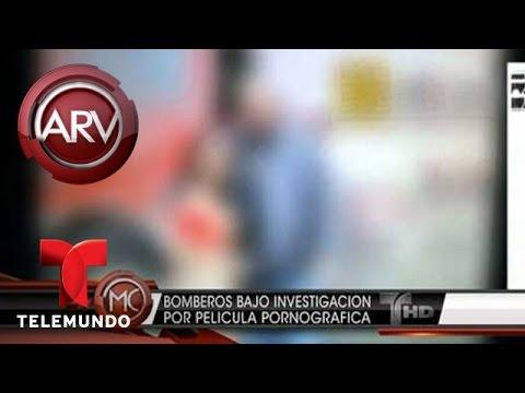 Al Rojo Vivo    Bomberos porno   Telemundo ARV