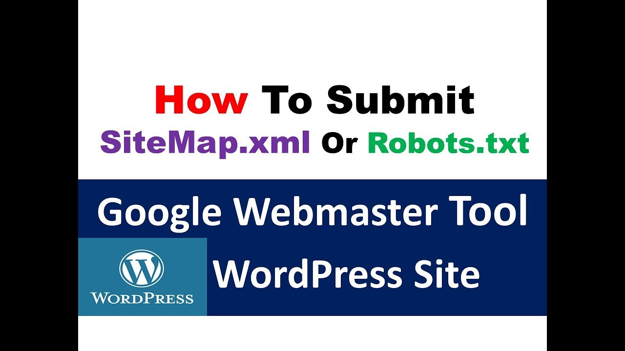 how to submit wordpress site sitemap xml or robots txt to google