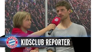 FC Bayern KidsClub Mitglieder bei der Team Presentation