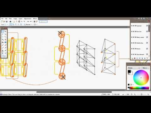 Autodesk Revit Dynamo. Tetragons (cells) on the surface by curves