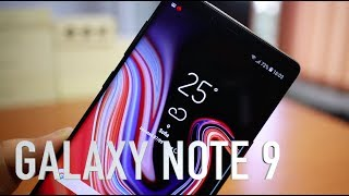 Samsung Galaxy Note 9 Midnight Black unboxing