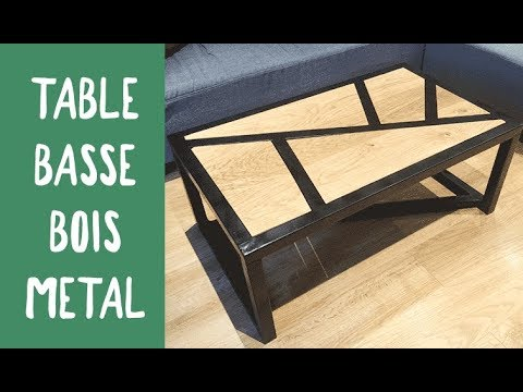 Fabrication d\'une table basse BOIS / METAL / Challenge OuiAreMakers ...