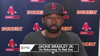 Boston red sox center fielder jackie bradley jr. reflects on his career and legacy after eight seasons with the club. for more: https://nesn.com/2020/09/jack...