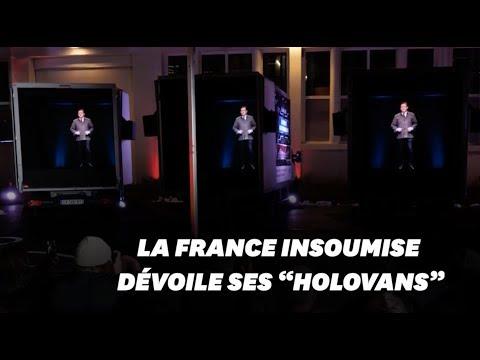 """Avec """"l'Opération 471"""", la France insoumise recycle ses hologrammes pour les Européennes 2019"""
