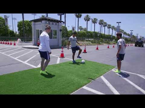 Watch: Giovani and Jonathan dos Santos take the Chevrolet Trick Shot Challenge